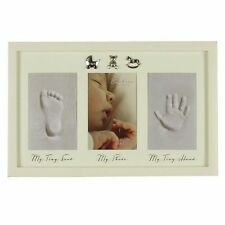 Baby Hand Print & Foot Print Plaster Cast Kit & Photo Frame Baby Gift CG387