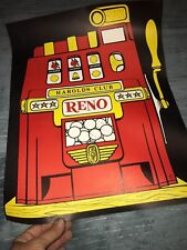 "Vintage Harolds Club Reno Casino Slot Machine Poster 13 5/8"" x 17 1/2"""