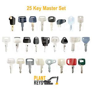 25 Key Machinery Excavator Master Set For Caterpillar Komatsu FREE EXPRESS