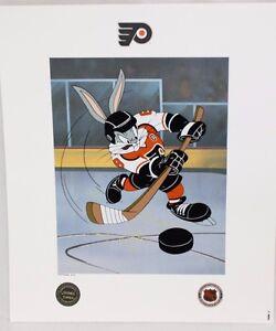 Looney Tunes Flyers Warner Bros Bugs Bunny He Shoots, He Scores Toon Art Litho