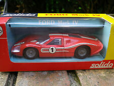 SOLIDO 170 vintage FORD MARK IV MK IV Le Mans rouge état neuf, boite d'origine