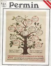 Permin of Copenhagen Family Tree Cross Stitch Kit  Danish Art Needlework