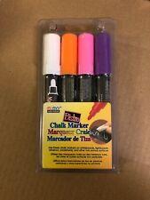 Bistro Chalk Marker 6mm Point Set 4/Pkg White Pink Orange Purple 028617481265