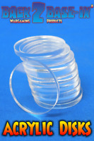 Acrylic Disk Circles 32mm Diameter 3mm Thick x 100 pieces Clear