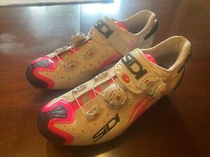 SIDI Drako Carbon SRS MTB Cycling Shoes Pink/white