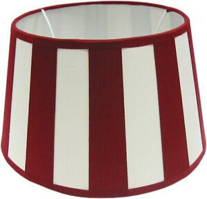 Chintz-Lampenschirm *rund* creme/bordeaux im Kolonialsti 25cm , E27 unten