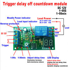DC 12V LED Display Countdown Timing Timer Delay Turn OFF Relay Switch Module HOT
