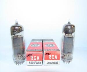 NIB-Matched Pair RCA 6BQ5 EL84 amplifier tubes. TV-7 test strong.
