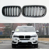 F15 F16 Front Kidney Grill Carbon Fiber Grille for BMW X5 F15 X6 F16 2014-2019