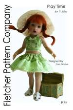 """Play Time Doll Clothes Sewing Pattern 7"""" Riley Fletcher Pattern Company"""