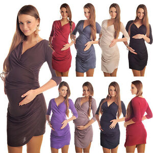 Elegant Maternity Ruched Side Dress Pregnancy Wear Size 8 10 12 14 16 18 6408