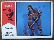 Rusty Patenaude / Robert Guindon 1974/75 OPC WHA Hockey Wrong Back Error Card