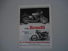 advertising Pubblicità 1973 BENELLI TORNADO 650/125 2C