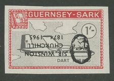 Guernsey SARK 1966 Churchill 1s plane Dart Herald PROOF INVERTED Ovpt