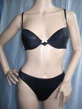 LASCANA Glamuroso Push Up Bikini Negro 36 Gr. C NUEVO