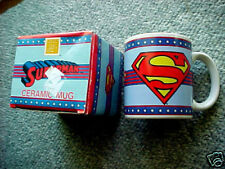 SUPERMAN Ceramic Mug/Cup ENESCO DC Comics WITH BOX RARE HTF