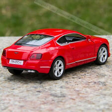 Model cars Toys Bentley continental 1:36 Alloy casting Pull-back motor Red Gifts