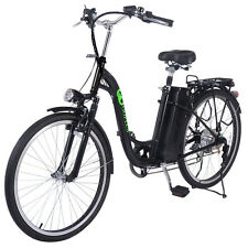 26'' 250W Electric Bicycle EBike Mountain Speed Change Lithium Battery  Black