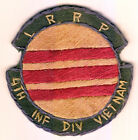 WARTIME US ARMY LRRP 4TH ID PATCH (1058)