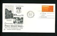 Postal History Canada Rose Craft FDC #618 Prince Edward Islands province 1973