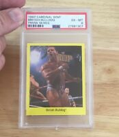 The British Bulldog Wwf 1997 Cardinal Trivia Series Card Psa Graded pop 1
