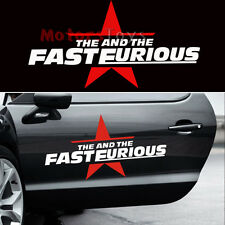 (2x) 50cm JDM Cool The Fast And The Furious Personality Vinyl Car Sticker Decals