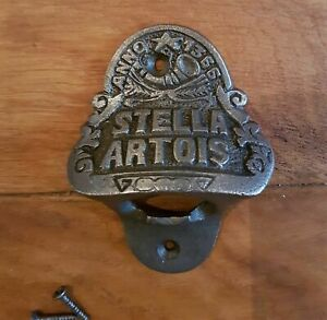 Stella Artois  Antique Retro Style Wall Mounted Cast Iron Bottle Opener