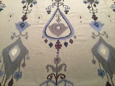 "2.25yd ROBERT ALLEN ""Warm Shimmer"" Cornflower Ikat Fabric 229808  $472 Retail"