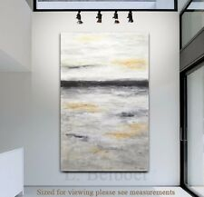 HUGE 36 x 60 ORIGINAL MODERN ABSTRACT ART LANDSCAPE PAINTING CANVAS ~ L. Beiboer