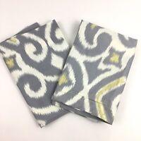 California Design Den Pillow Shams Set Standard Size Gray White Contemporary