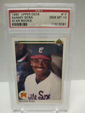 1990 Upper Deck Sammy Sosa #17 RC PSA 10