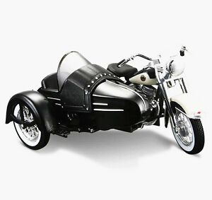 Maisto 1:18 Harley Davidson 1958 FLH Duo Glide W Sidecar Dicast Motorcycle Model