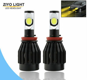 H11 H8 H9 CREE 60W LED Fog Light 3000K Golden Yellow Headlight Conversion Kit