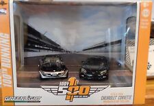 Green Light Indy 500 Diorama 1978 & 2008 Chevy Corvette Pace Cars