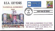 BSA  NAT'L JAMBOREE   LAST TIME HELD  FT A.P.HILL   100 YRS    FDC- DWc  CACHET
