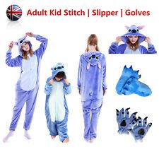 Unisex Adult Kid Pajama Kigurumi Cosplay Animal Onesie11 Hallowee Stitch Costume
