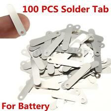 100pcs Solder Tab for Sub C 14500 18650 Rechargeable Battery Cell 2.5x0.5cm 15g