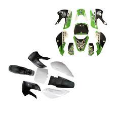 Sticker and Plastic Fender for Kawasaki KLX110 DRZ KX65 Coolster Trail Pit Bike