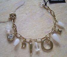 dyrberg kern bracelet Olympia Gold/White