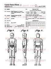 United States PATENT : Star Wars C3PO Robot - A4 Printed Repro Art