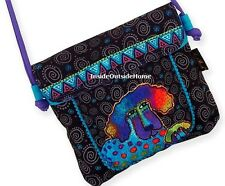 Laurel Burch Poodle Pup Labradoodle Dog M/S Flap Over Crossbody Tote Bag New