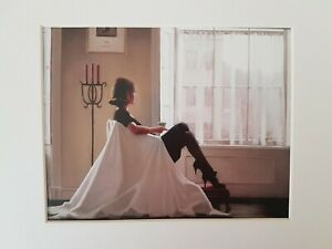 Jack Vettriano In Thoughts of You White Mounted Art Print Special Offer NEW