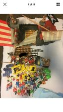 Playmobil Vintage Pirate Ship 1978 Not Complete W/ Lot Of Misc Accessories