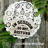 MINI Sign (fits door knob) IN SESSION Do Not Disturb Plaque Tan USA DecoWords