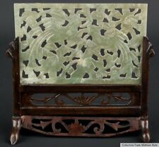 Cina 20. JH. a Small Chinese carved HARDSTONE table SCREEN giada cinese chinois