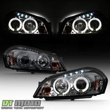 Smoked 06-16 Impala Monte Carlo Dual Halo Projector Headlights +Daytime DRL Led
