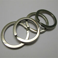 4pcs Outdoor Stainless Steel Key Ring Key Chain Key Ring Split Ring Size S Alloy