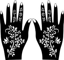 Hand Template Temporary Tattoo #Henna Stencil Sticker Body Art Vinyl