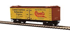 MTH 80-94047 HO Scale R40-2 Woodside Reefer Car COOK'S GOLDBLUME BEER #68439