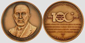 Turkey 2021, NATIONAL ANTHEM, Bronze, UNC Coin 100th Anniversary of Acceptance
